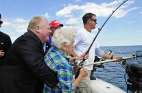 Mayor Rob Ford makes catch of the day